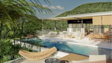 Villa mit Pool und Terrasse