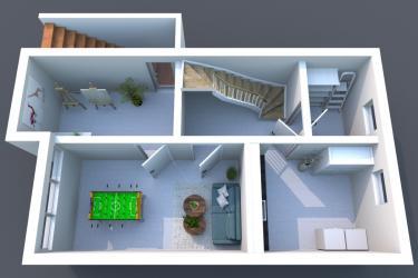3D Grundriss Kellegeschoss
